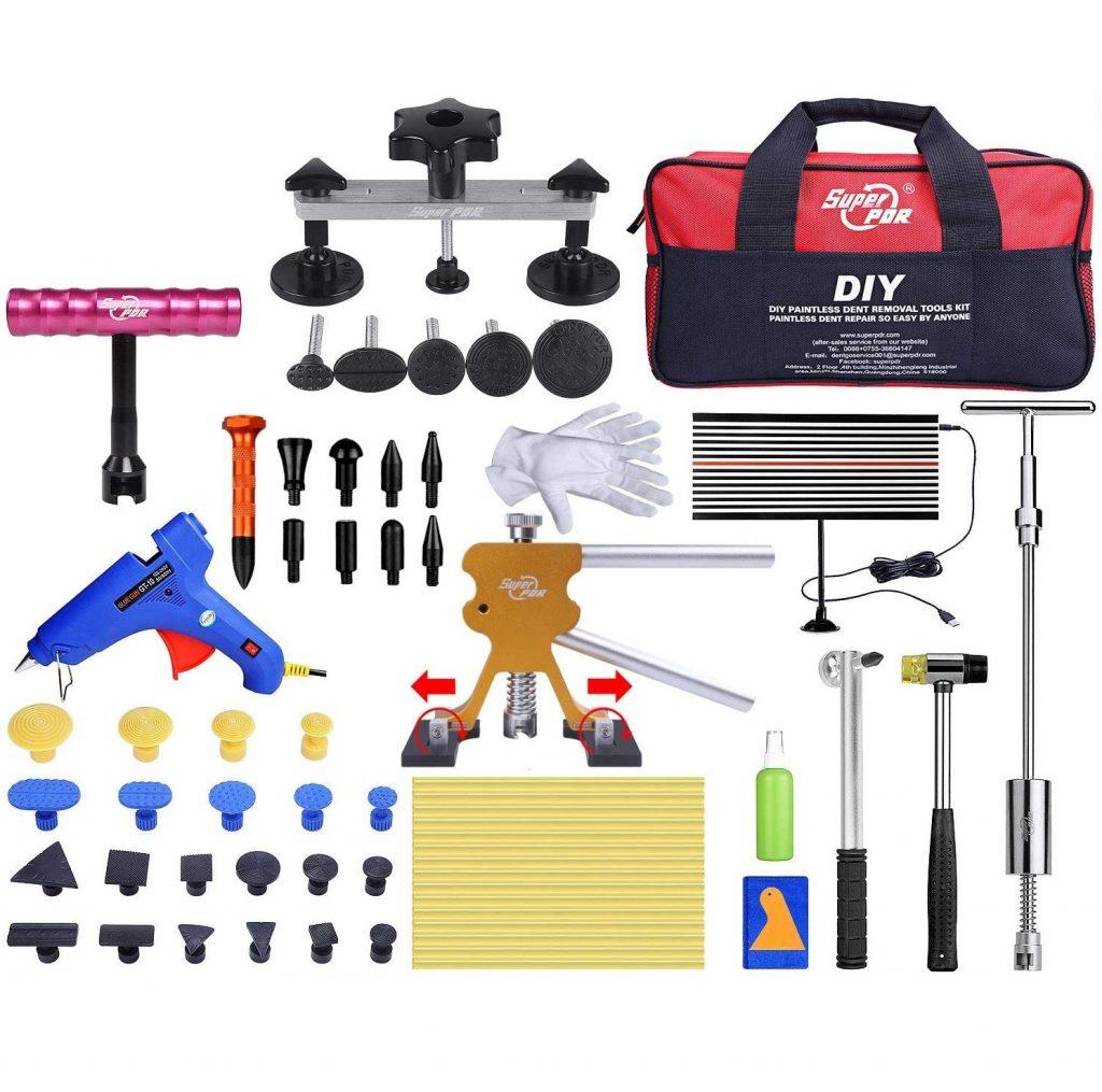 HIP TEC Dellen Reparatur, Dent Abzieher Removal Ausbeulwerkzeug, Lackfreies Dellen Reparaturset, DIY Dent Repair für Fahrzeug Dellen