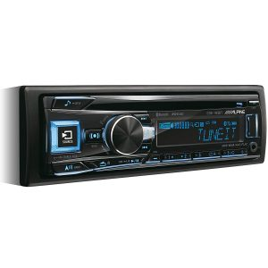 Alpine CDE-193BT CD/USB Receiver mit Bluetooth, Schwarz