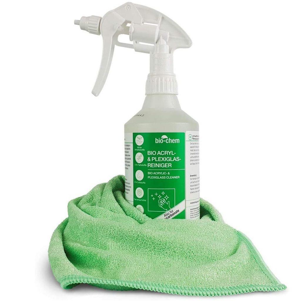 Bio Acryl- und Plexiglasreiniger 500 ml mit Mikrofasertuch