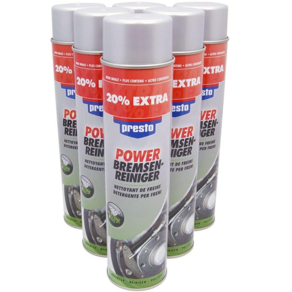 6 Dosen Bremsenreiniger Spray Presto VPE(6) 600ml