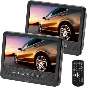 AEG portabler DVD-Player DVD 4555, 2X 17,8 cm