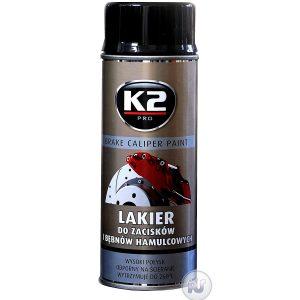 K2 Bremssattellack 400ml Spray Schwarz glänzend Thermolack 260°C Farbe hitzefest