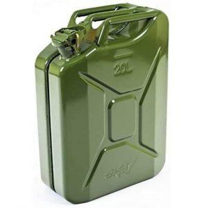 Oxid7 Benzinkanister Kraftstoffkanister Metall 20 Liter Olivgrün mit UN-Zulassung - Bauart geprüft