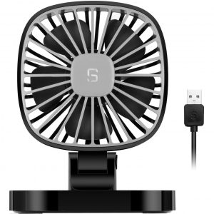 COMLIFE USB Auto Ventilator 5V, 10 cm drehbarer Auto Lüfter