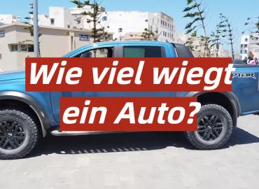 Wie viel wiegt ein Auto